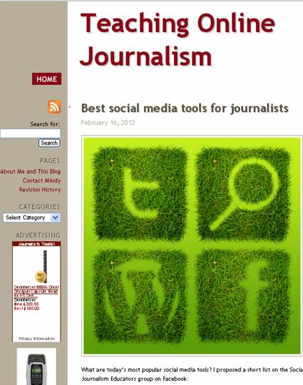 Teaching Online Journalism by Mindy McAdams