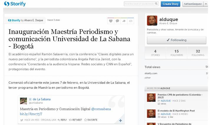 Storify Inauguración maestría