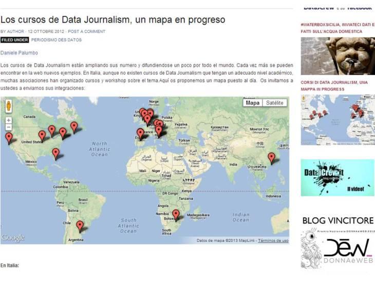 Estudios de periodismo de datos en el mundo