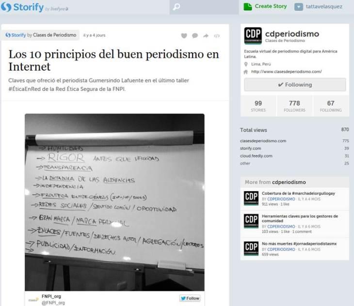 Storify Clases de periodismo